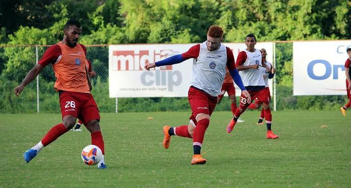 Jogadores que não atuaram ou atuaram menos de 45 minutos contra o Paraná, treinaram neste sábado (Foto: Divulgação/E.C. Bahia)