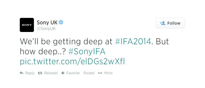 Sony indica lançamento de smartphone ainda mais protegido contra submersão (Foto: Reprodução/Twitter)