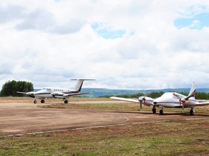 aeroporto patrocínio (Foto: Ascom Prefeitura Patrocínio/Divulgação)