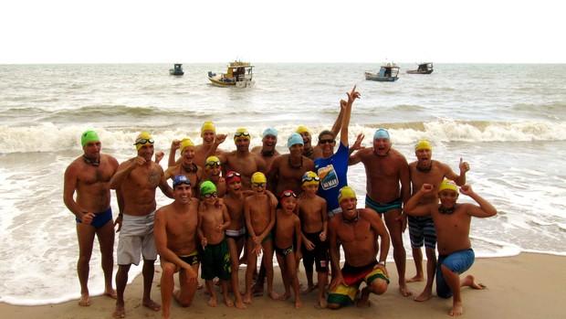Natação no Mar, turma do Conde (Foto: Divulgação/Prefeitura do Conde)