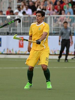 Matheus Borges ressalta as dificuldades enfrentadas pelos atletas do hóquei sobre grama no Brasil (Foto: Divulgação / PanAm/Hockey)
