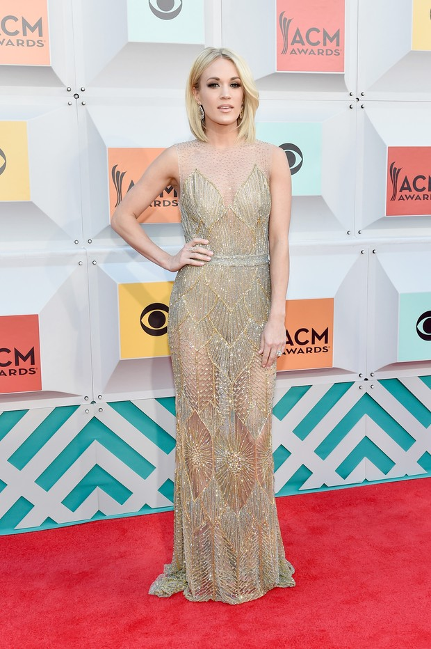 Carrie Underwood no ACM Awards (Foto: AFP)