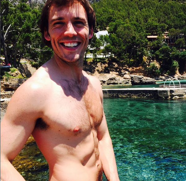 O ator Sam Claflin (Foto: Instagram)