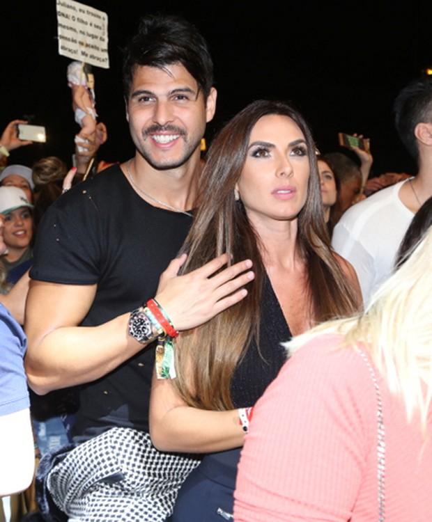 Nicole Bahls e Marcelo Bimbi (Foto: Anderson Borde/AgNews)