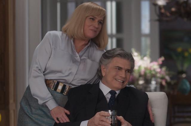 Vera Holtz e Tarcísio Meira em A lei do amor (Foto: Reprodução/TV Globo)