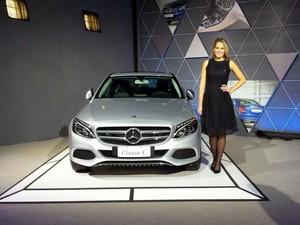 Mercedes-Benz Classe C também será produzido na fábrica de Iracemápolis (Foto: Laila Braghero/G1)