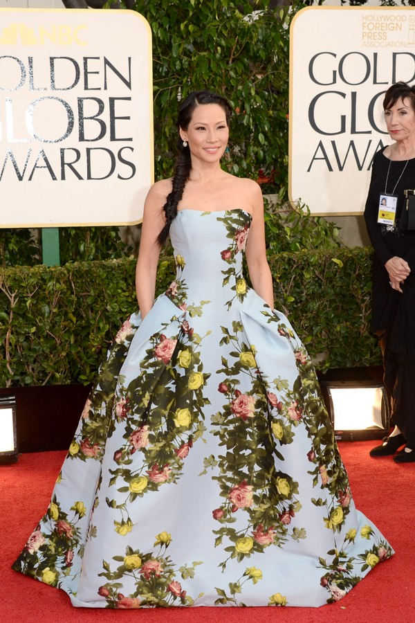 Lucy Liu no Globo de Ouro de 2013 (Foto: Getty Images)