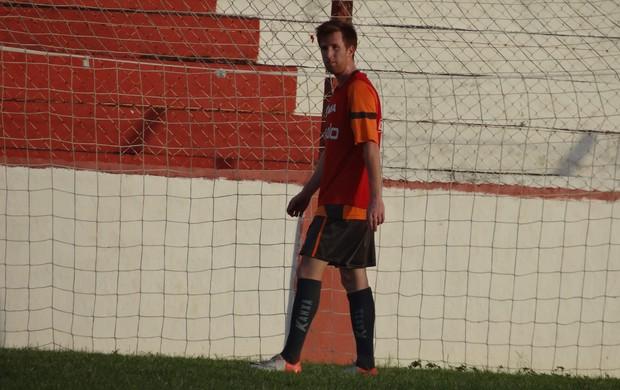 Georginho na apresentação ao CRB (Foto: Denison Roma / Globoesporte.com)