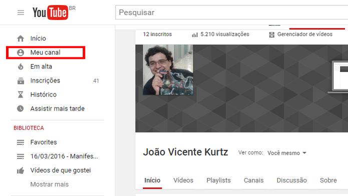 Customização dá um look único para canais do YouTube (Foto: Reprodução/João Kurtz)