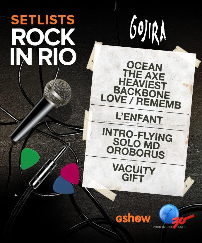 Confira o set list do Gojira (Foto: Gshow)