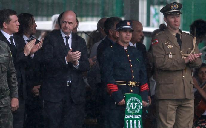 gianni infantino, presidente, fifa, chapecó (Foto: Diego Vara/Reuters)