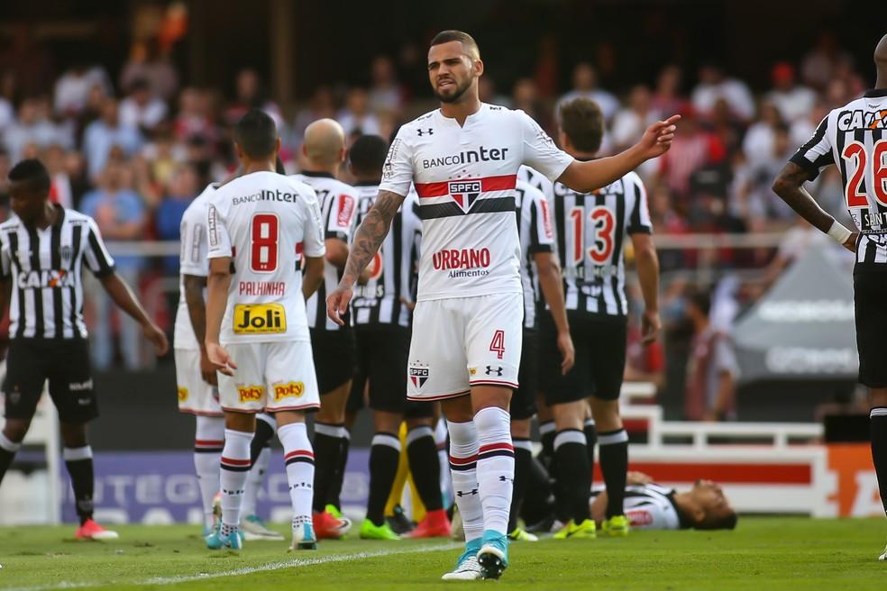 Lucão fez último jogo pelo São Paulo contra o Galo (Foto: Newton Menezes/Futura Press)