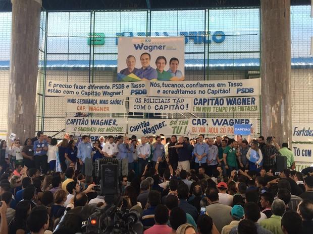 Convenção contou com lideranças políticas do PR, PMDB, PSDB e Solidariedade (Foto: Taís Lopes/TV Verdes Mares)