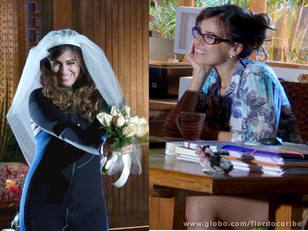 A imaginação da bióloga vai longe! (Foto: Flor do Caribe / TV Globo)