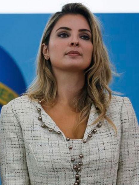 A primeira-dama Marcela Temer durante solenidade em dezembro de 2016 no Palácio do Planalto