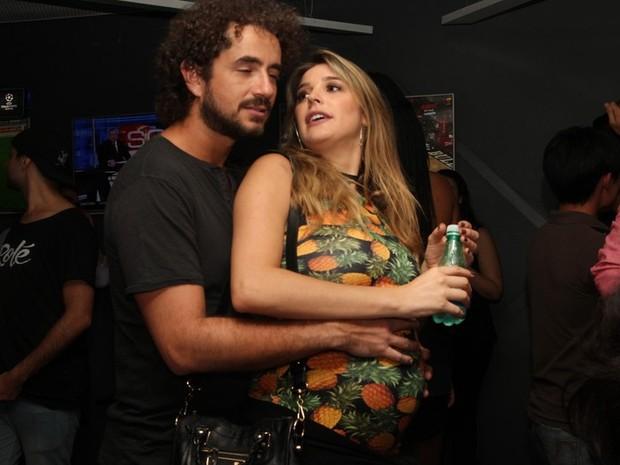 Felipe Andreoli e Rafa Brites em show em São Paulo (Foto: Renan Katayama/ Ag. News)