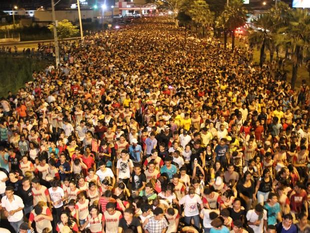 Marcha para Jesus reúne cerca de 200 mil pessoas em Teresina (Foto: Ellyo Teixeira/G1)