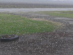 Bom Retiro, na Serra catarinense, foi uma das cidades atingidas por chuva de granizo nesta quarta (16) (Foto: Hiago Simiano)