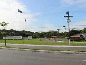 Estrutura saiu de centro do Exército (Foto: Luis Henrique Oliveira/G1 AM)