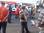 Pedestre tem perna fraturada ao ser atropelado por motorista que fugiu
