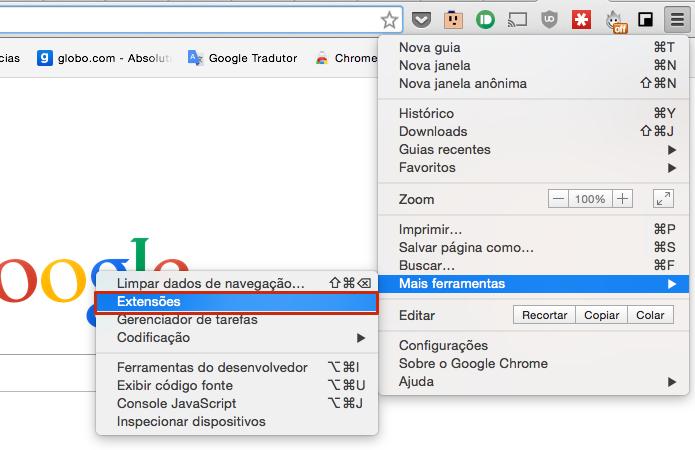 Vá até a janela de extensões do Chrome (Foto: Reprodução/Paulo Alves)
