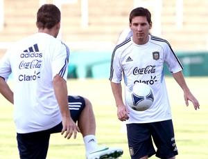 Messi no treino da seleção da Argentina (Foto: AFP)