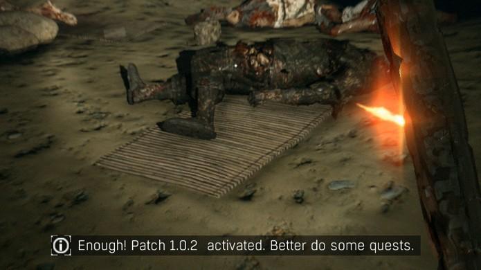 Caverna em Dying Light faz piada com Loot Cave do jogo Destiny (Foto: IGN)