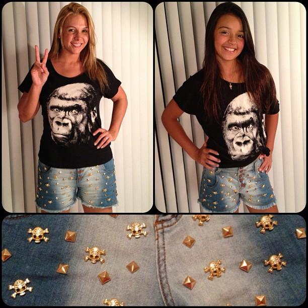 Carla Perez e a filha Camilly Victória usam o mesmo look (Foto: Reprodução/Instagram)