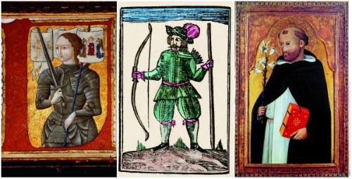Foto (Foto: Da esquerda para direita: Joana D'Arc, Robin Hood e São Tomás de Aquino, personagens da Idade Média / Reprodução)