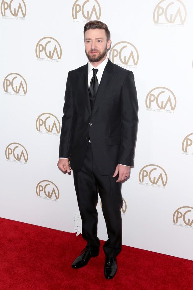 Justin Timberlake em premiação em Los Angeles, nos Estados Unidos (Foto: Frederick M. Brown/ Getty Images/ AFP)