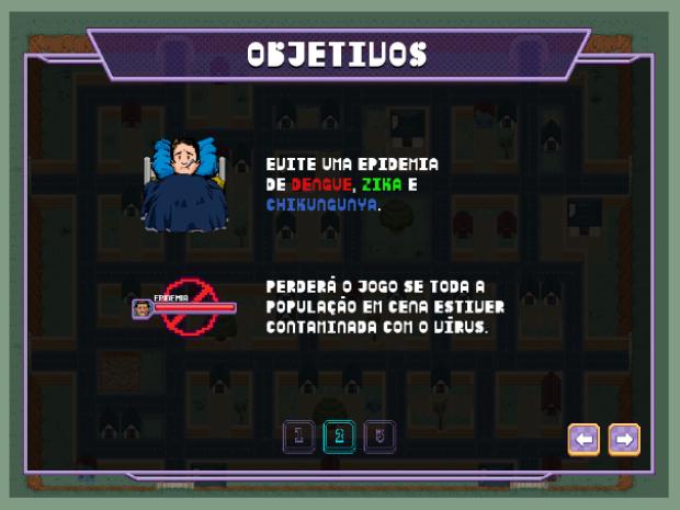 Se a cidade virtual enfrentar uma epidemia, o jogador perde a partida (Foto: Reprodução/UFG)