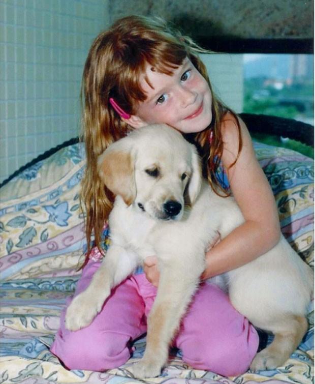 Marina com seu cachorro (Foto: Reprodução Instagram)