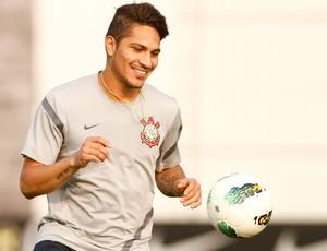 Paolo Guerrero treino Corinthians (Foto: Daniel Augusto Jr./ Agência Corinthians)