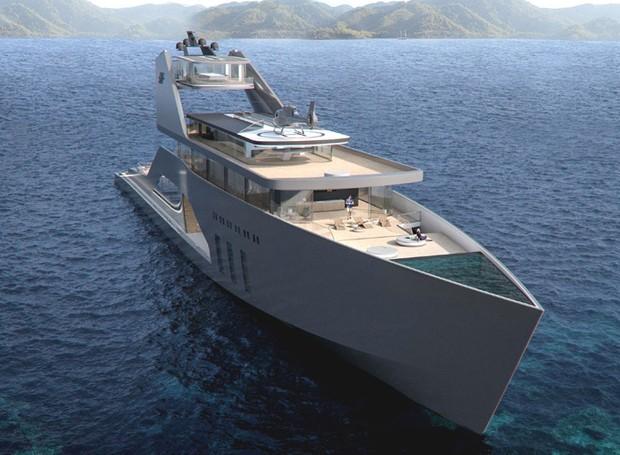 A embarcação possui 108 m² no projeto original (Foto: Hareide Design Norway/Divulgação)