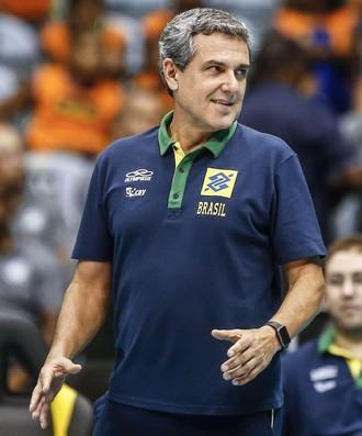 José Roberto Guimarães Brasil Holanda amistoso (Foto: Alexandre Arruda/CBV)