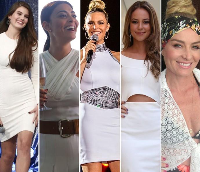Camila Queiroz, Juliana Paes, Fernanda Lima, Paolla Oliveira e Angélica falam de costumes para o Ano Novo (Foto: Gshow)