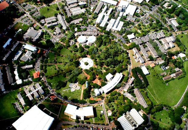 Vista aérea da Unicamp (Foto: Antoninho Perri/Ascom/Unicamp)