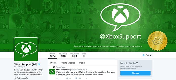 Cheque o perfil de Twitter da Xbox Live (Foto: Reprodução/Murilo Molina)