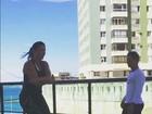Ivete Sangalo mostra excelente forma ao pular corda