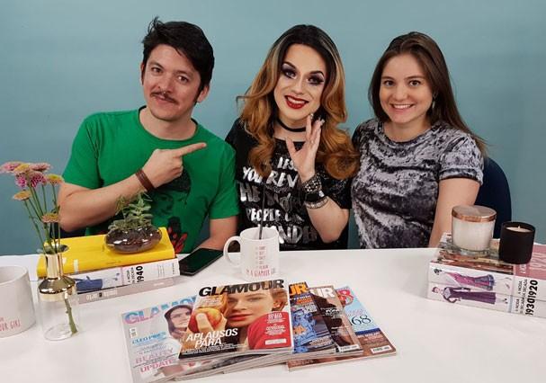 Felipe Carvalho, Lorelay Fox e Alline Dauroiz (Foto: Stefani Silveira/Glamour)