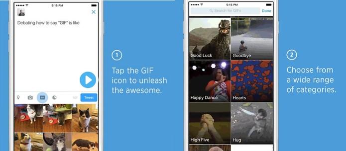Twitter agora oferece busca por GIFs para tuítes e mensagens diretas (Foto: Divulgação/Twitter)