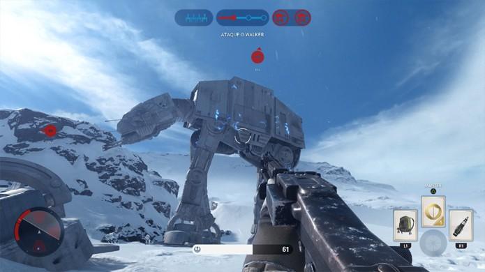 Enfrente os AT-AT em Star Wars Battlefront no novo modo Disputa offline (Foto: Reprodução/Rafael Monteiro)