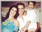 Filho de Claudia Raia abre o baú e publica foto da mãe grávida da irmã