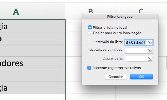 Configuração do filtro (Foto: Reprodução/André Sugai)