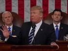 Trump baixa tom agressivo no primeiro discurso no Congresso