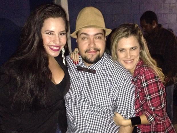 Tathi Kiss, Tiago Abravanel e Ingrid Guimarães em festa no Rio (Foto: Divulgação)