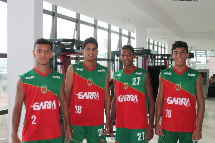 Jogadores Petrolina (Foto: Henrique Almeida)