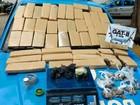 PM detém dois e apreende cerca de 50kg de cocaína em Campos, no RJ