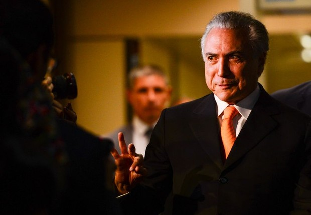 Michel Temer após reunião com a presidente Dilma Rousseff (Foto: Fabio Rodrigues Pozzebom/Agência Brasil)