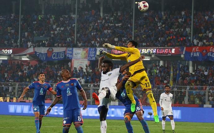Kattimani sai mal Mendoza Goa x Chennaiyin (Foto: Divulgação site oficial ISL)